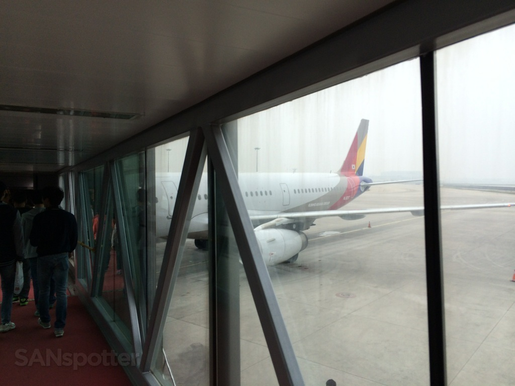 boarding Asiana flight 336