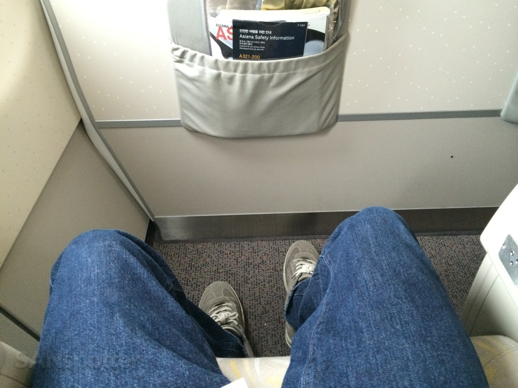 bulkhead row legroom on the Asiana A321