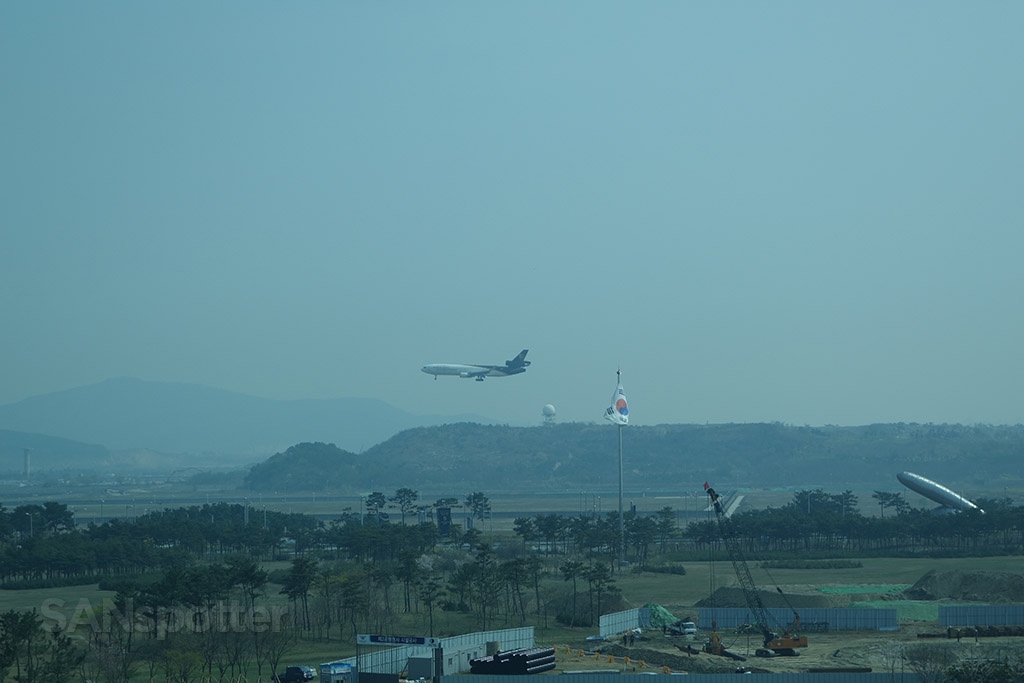 watching planes from my room at the incheon hyatt