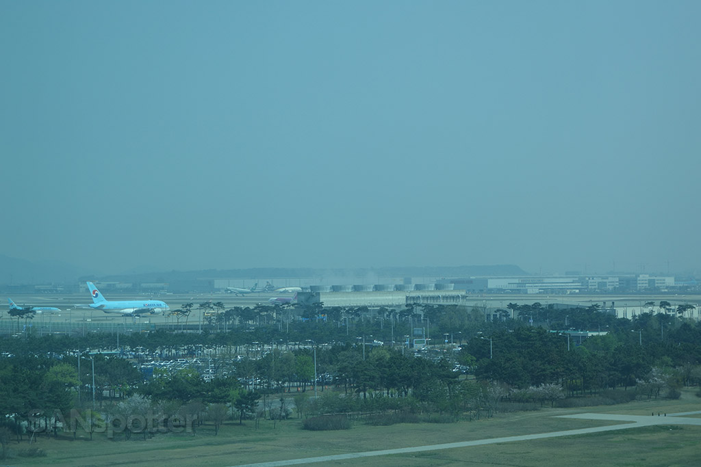 plane spotting at the incheon hyatt hotel