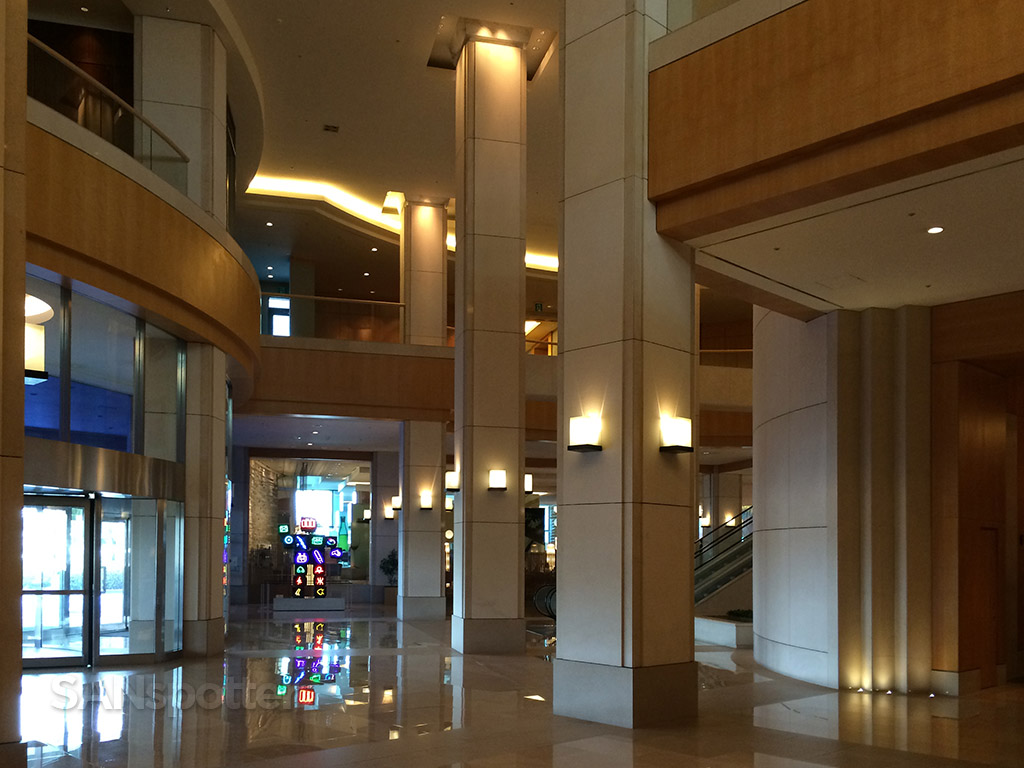 lobby is big and bright