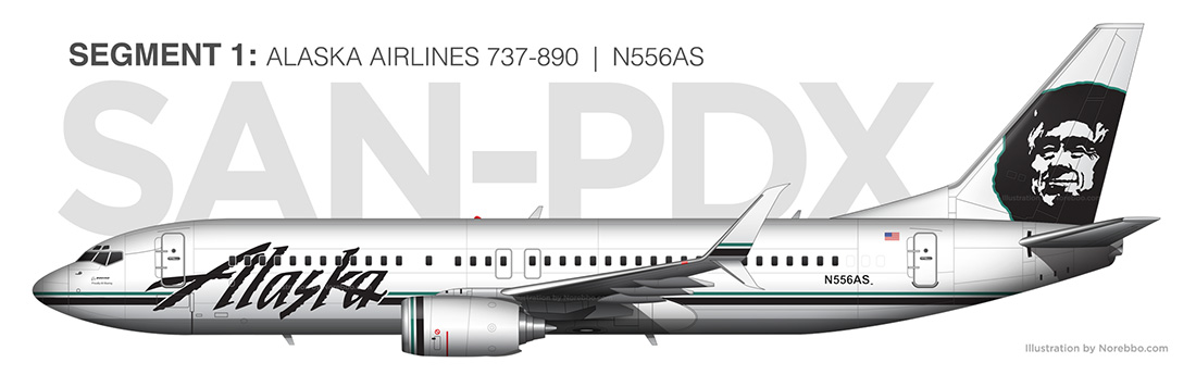 Alaska Airlines 737-800 N556AS illustration