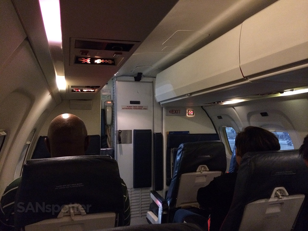 interior cabin of the united skywest emb-120