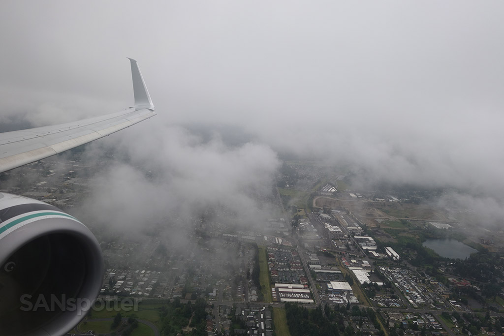 cloudy portland from the air