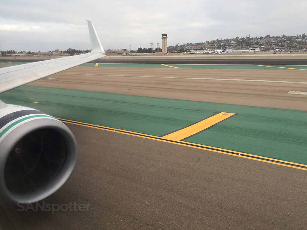 Taxiing out to runway 27