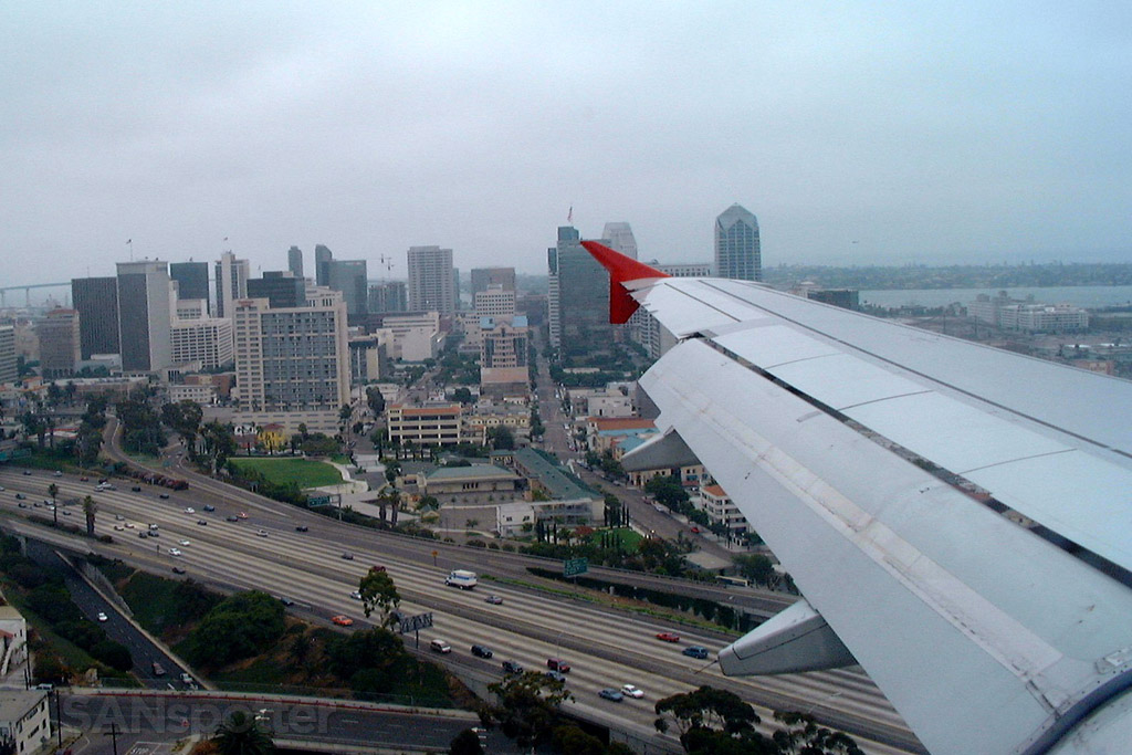 Overflying downtown San Diego