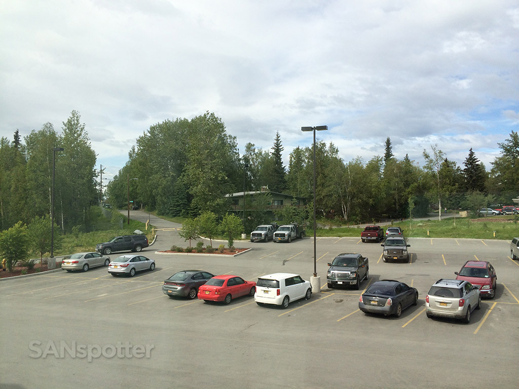 view of the parking lot