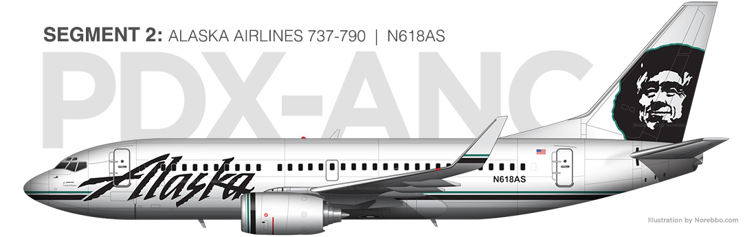 Alaska Airlines 737-700 N618AS illustration