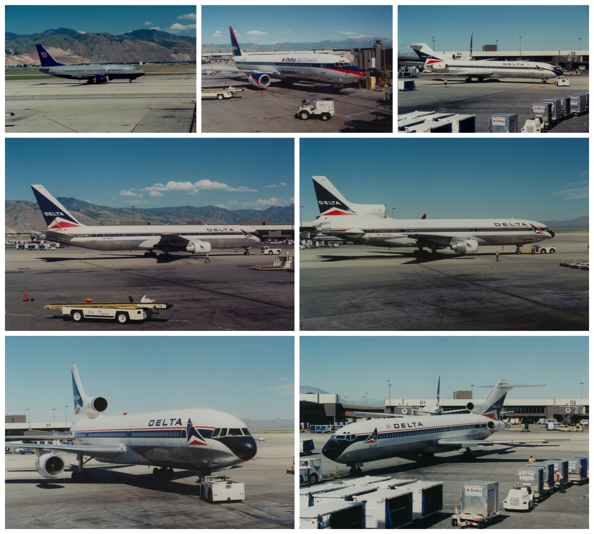 delta airlines aircraft at SLC