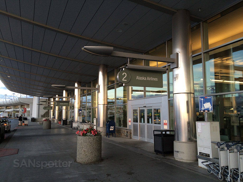 Alaska Airlines terminal at ANC