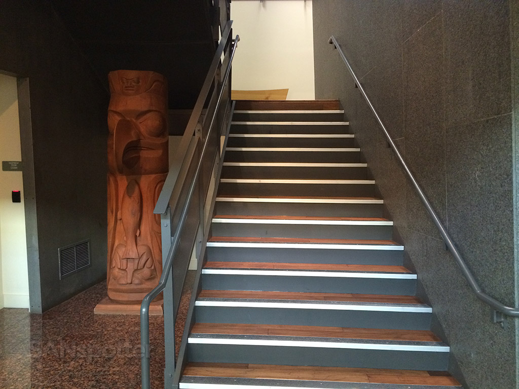 stairs to the Board Room lounge