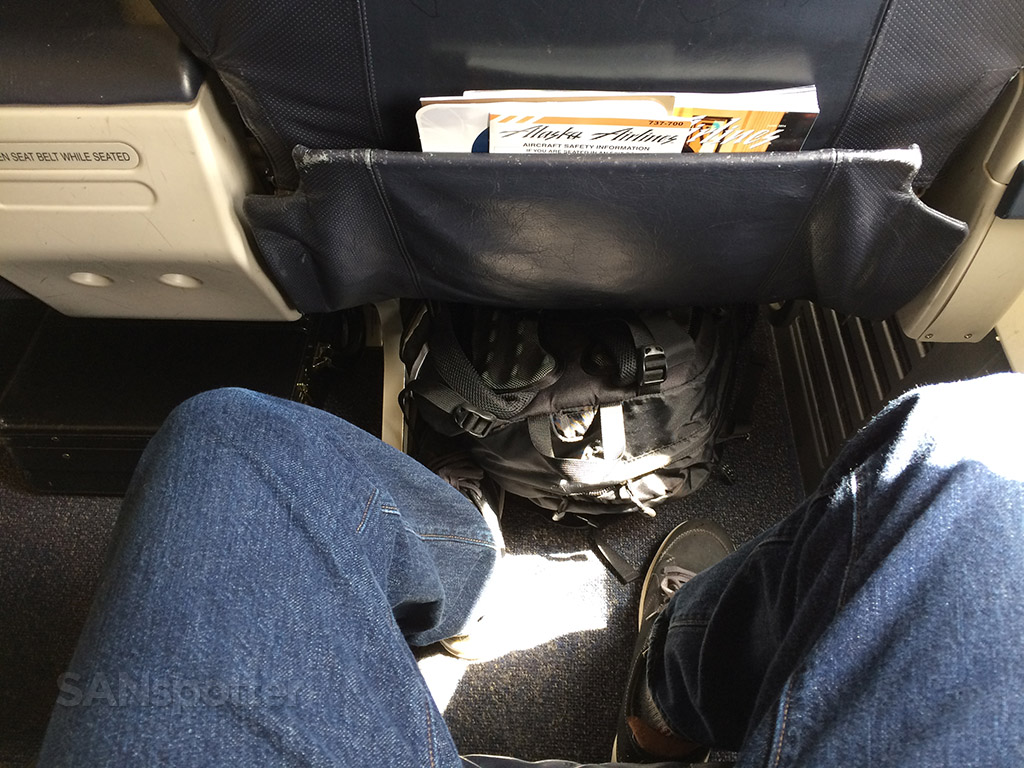 AS 737-700 first class leg room