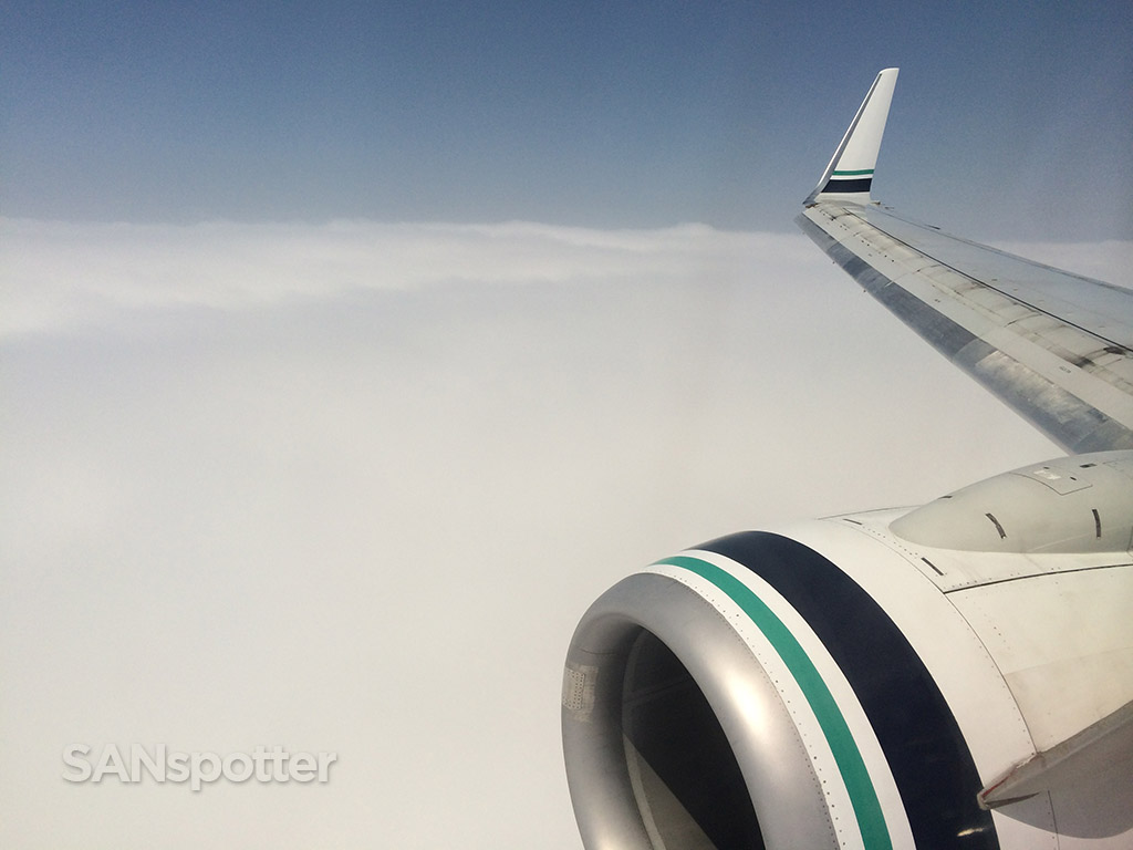 Just about to drop into the clouds