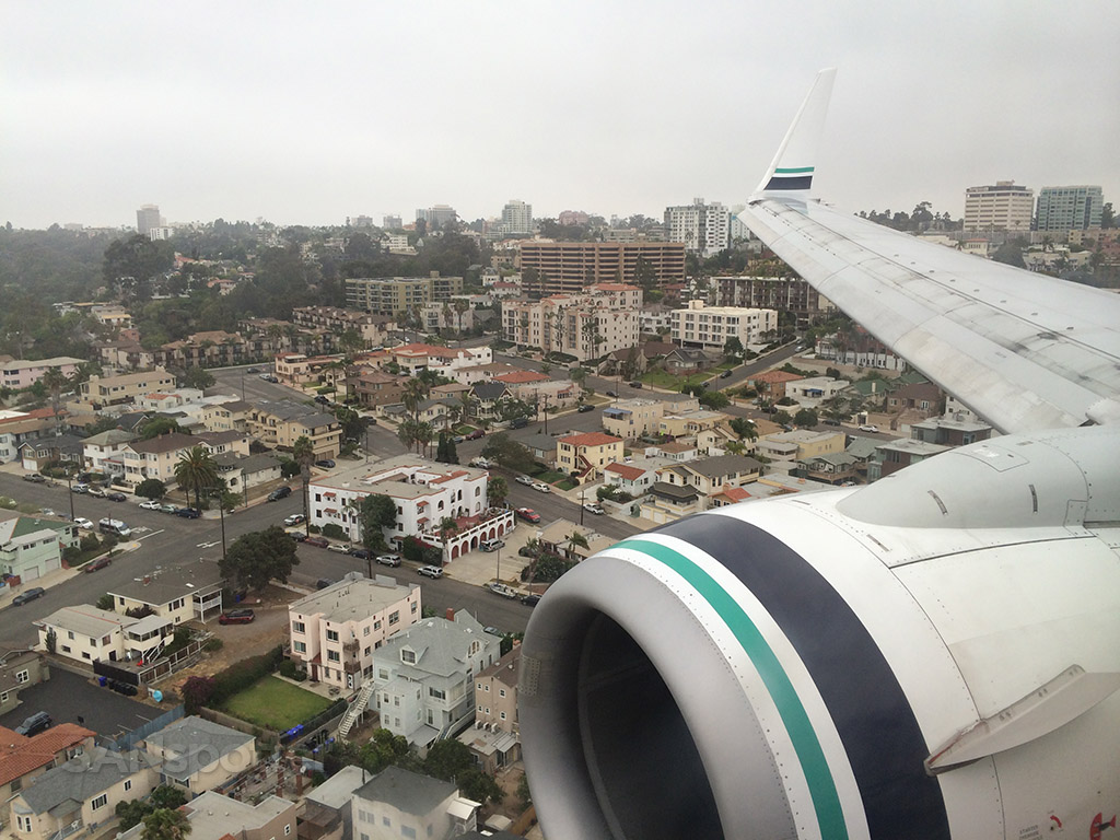 cloudy san diego approach