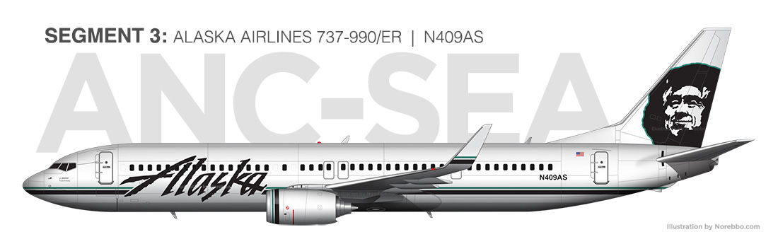 Alaska Airlines 737-900 N409AS illustration