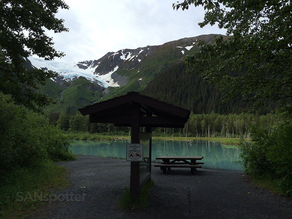 A quiet spot in the alaskan mountains