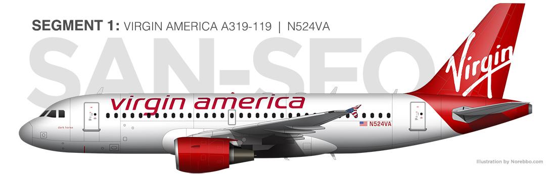 Virgin America A319
