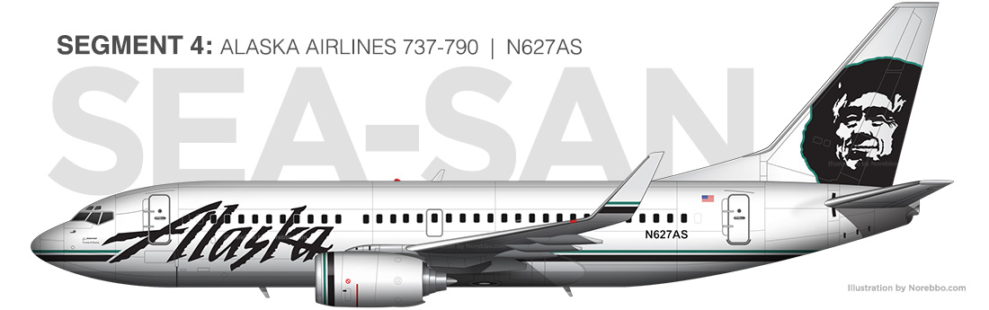 Alaska Airlines 737-700 N627AS illustration