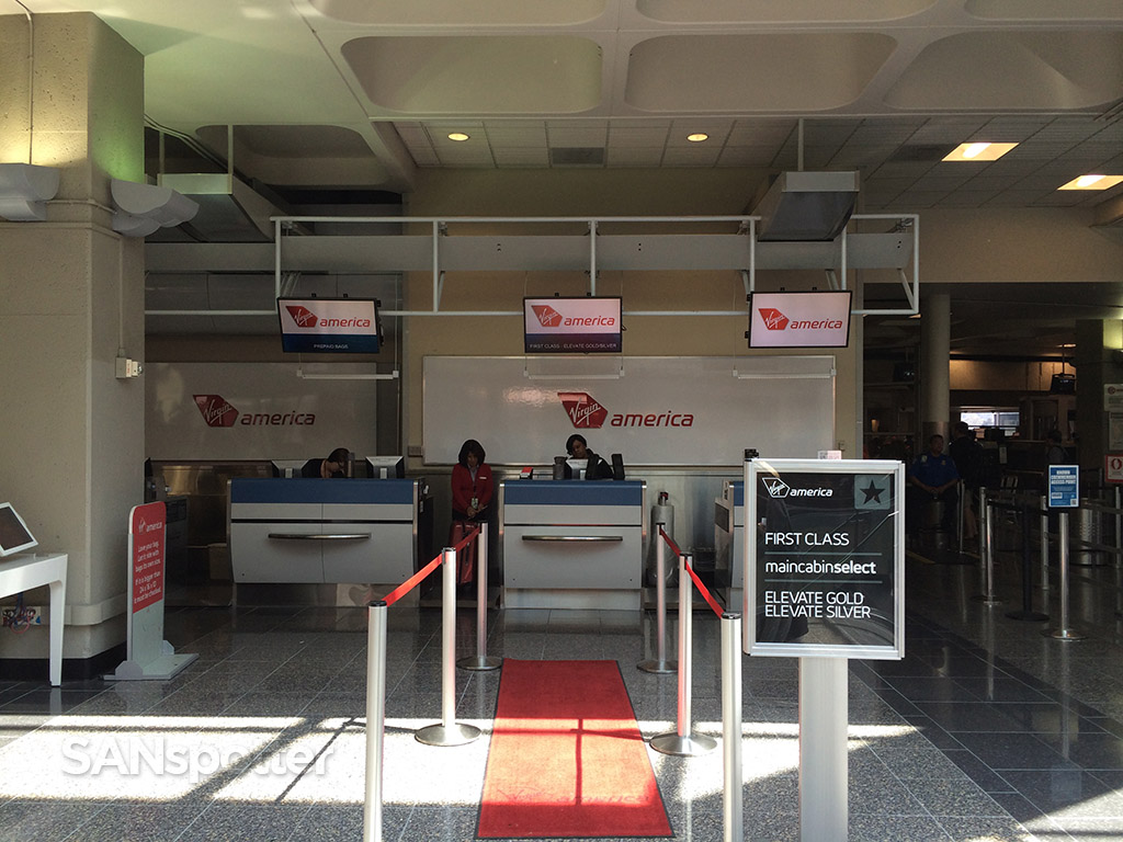 virgin america check in desk at san diego airport