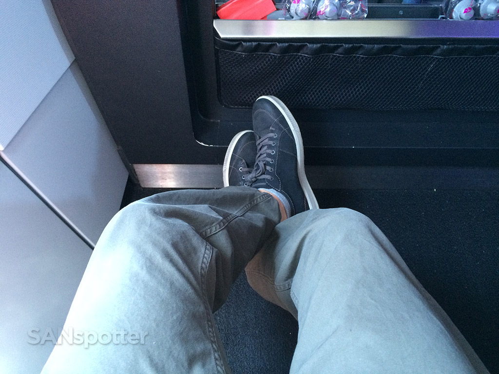 Leg room was pretty good in row 1