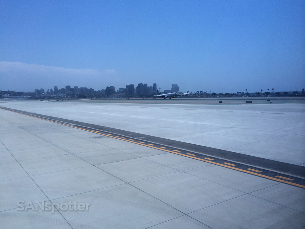 watching the action on runway 27 at SAN