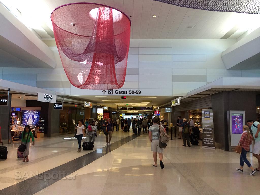 Inside terminal 2 at SFO