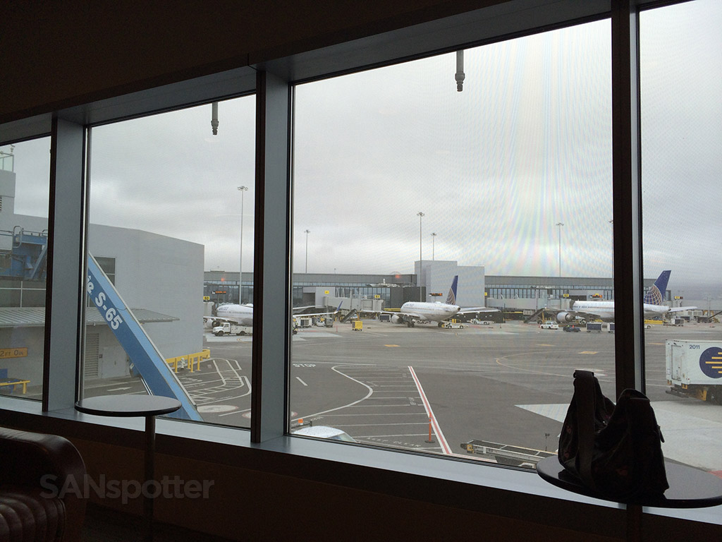 view of the ramp from the lounge windows
