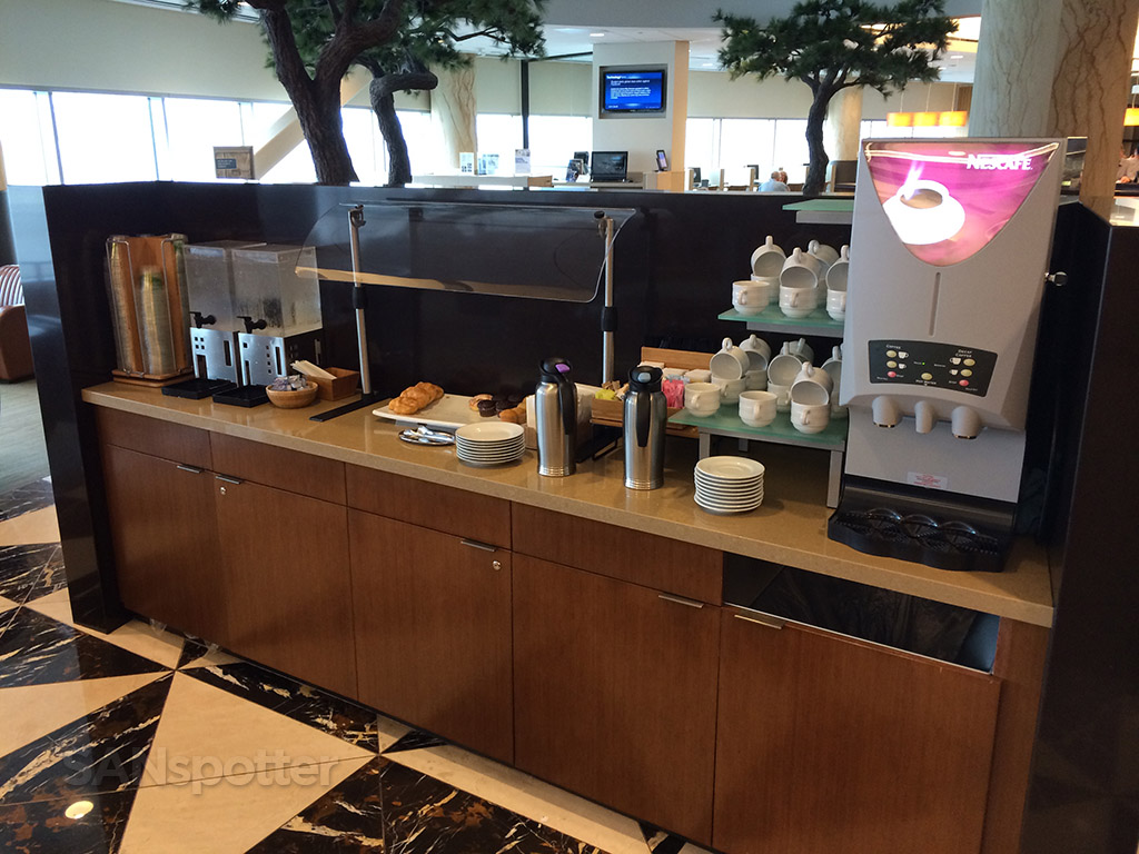 self-service snack and beverage counter