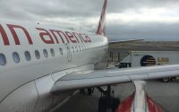 boarding the virgin america A319