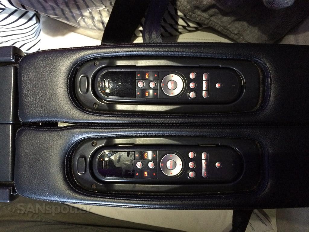 virgin america first class in flight entertainment controls