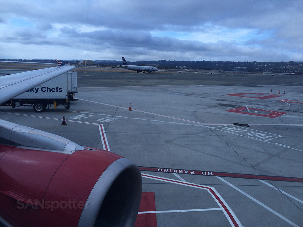 pushing back from the gate