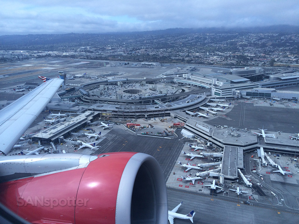 awesome view of SFO from above