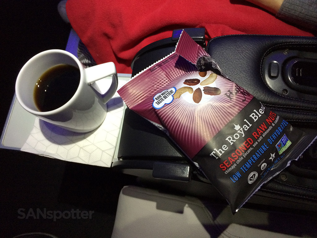 virgin america first class snack