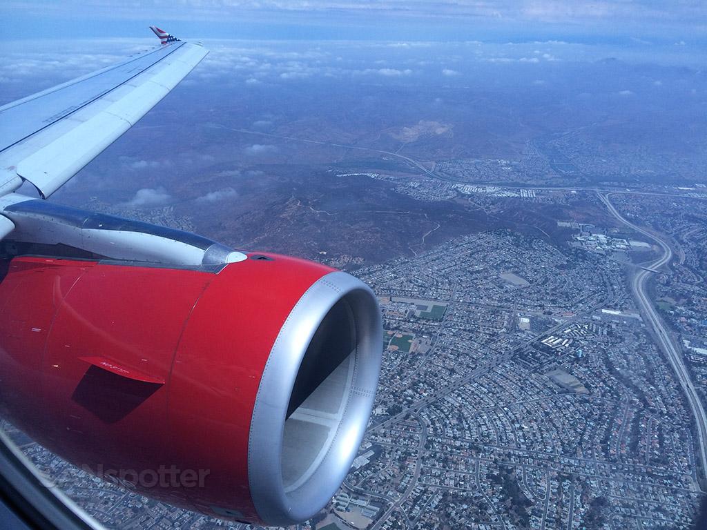 approach into San Diego