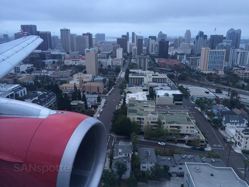 gloomy arrival into San Diego