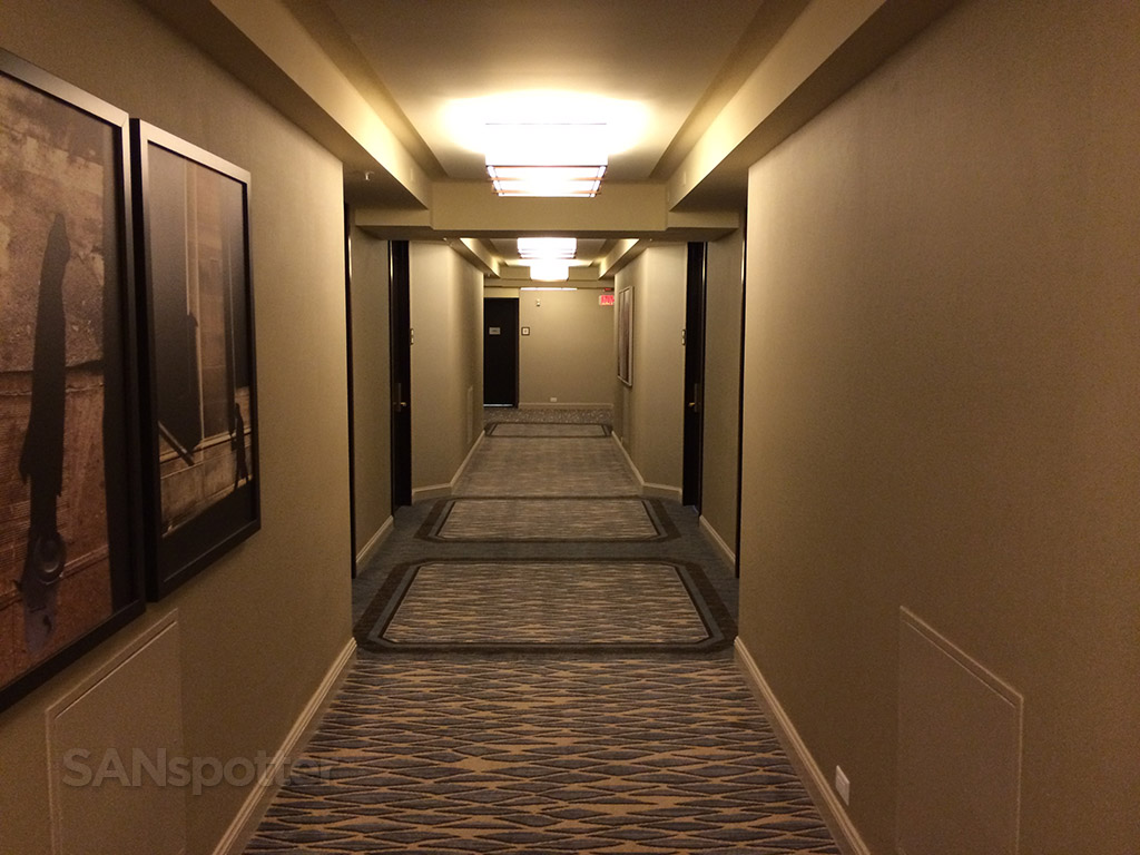 The 25th floor hallway
