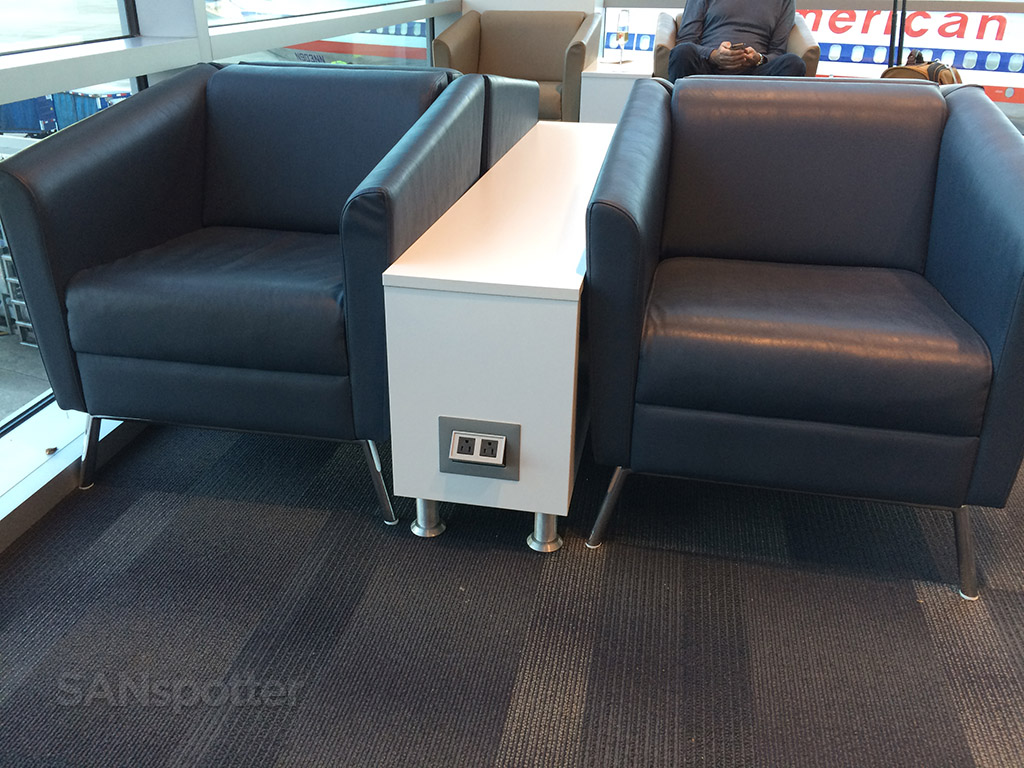 lounge seating with power outlets