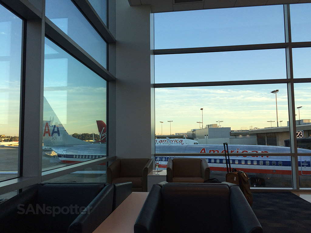 large windows in the SAN admirals club