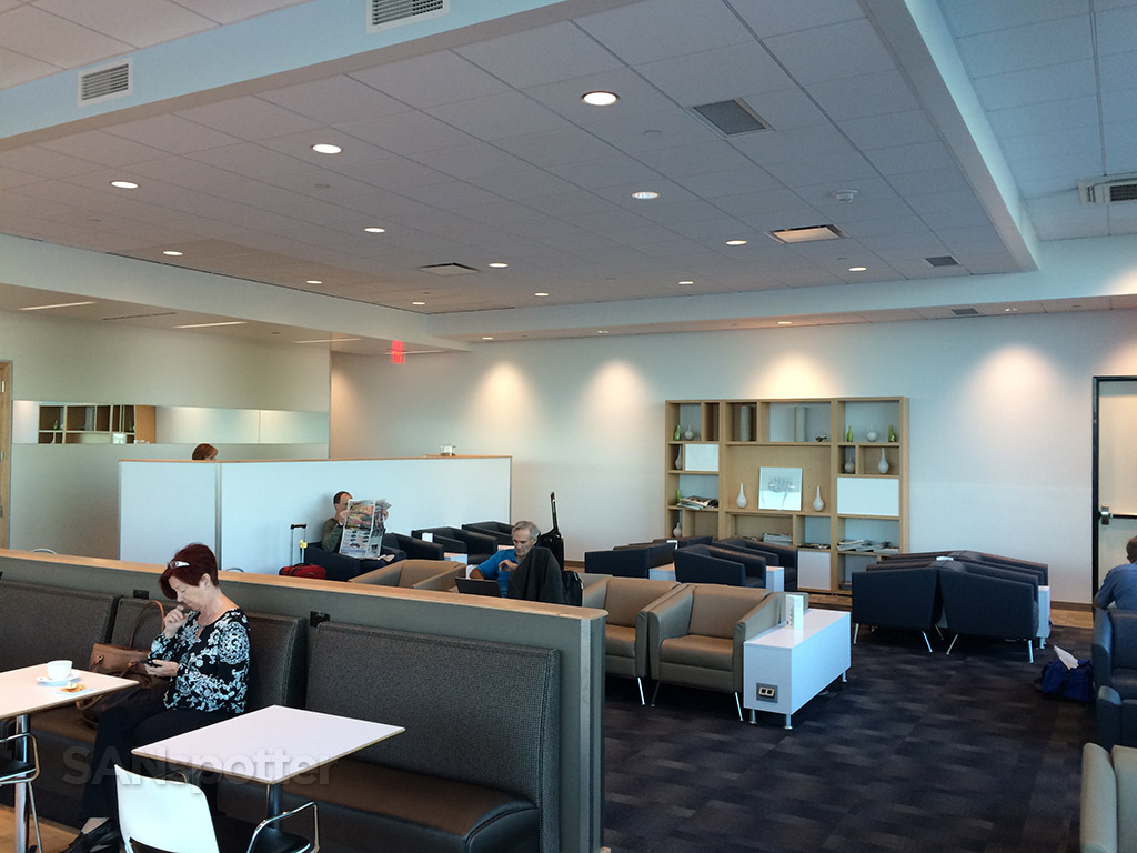 looking towards the back wall of the SAN admirals club
