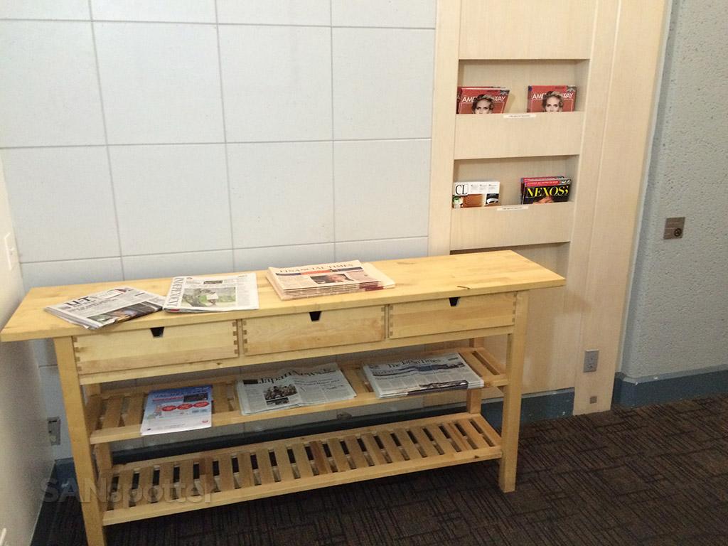 More temporary newspaper and magazine racks