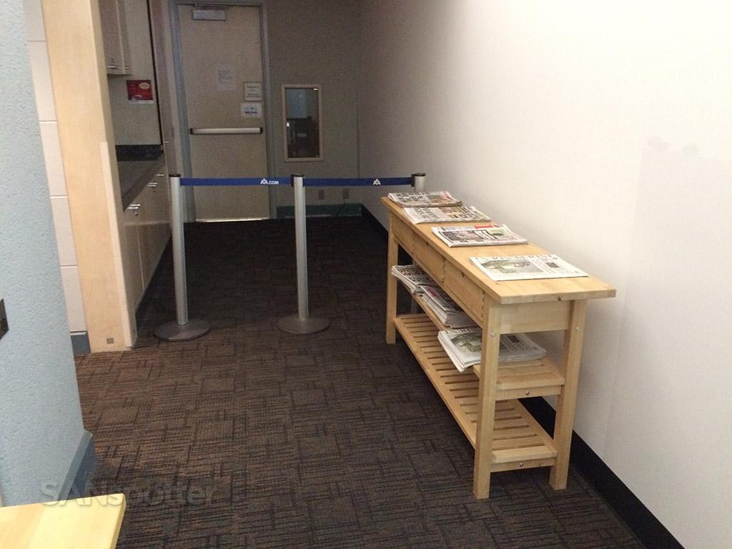 temporary magazine and newspaper racks
