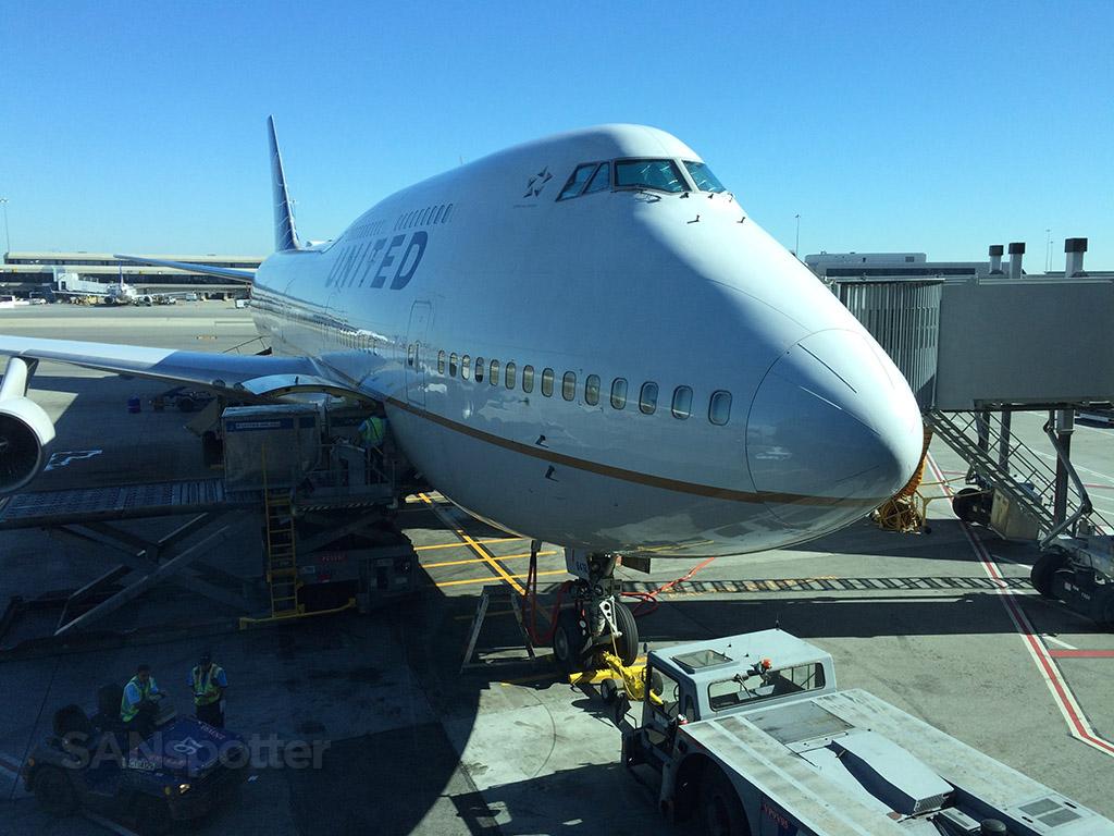 747 nose close up
