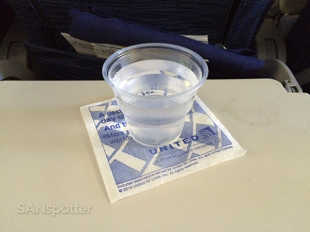 beverage service on UA837 SFO-NRT