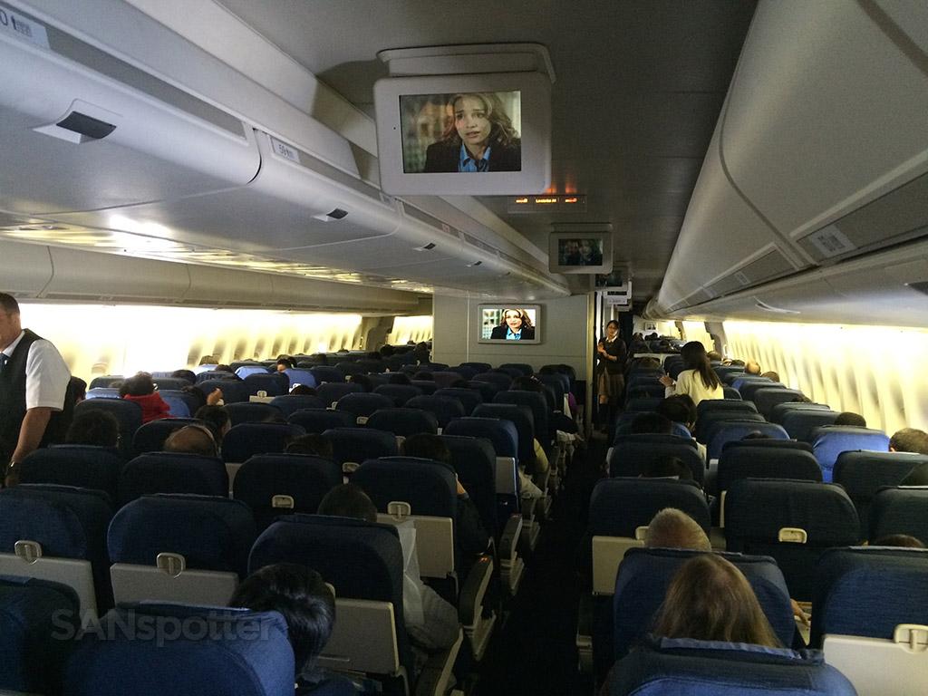 entire economy class cabin