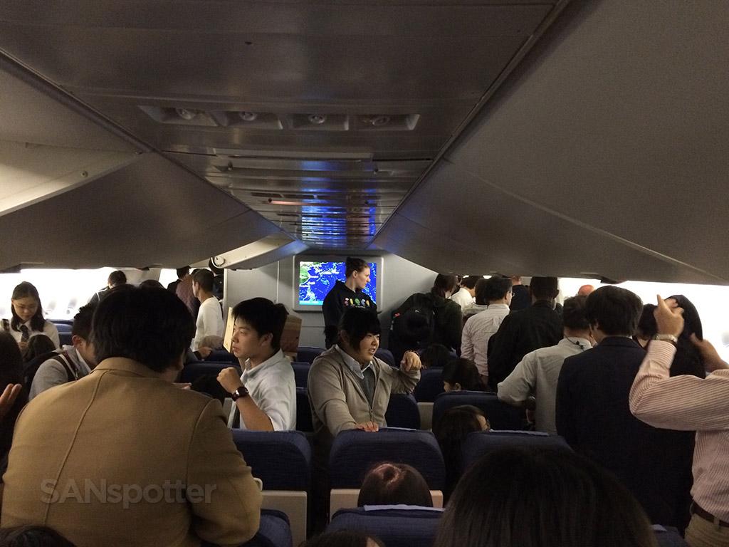getting of the plane at Narita