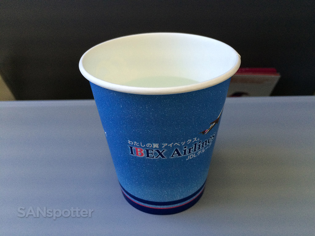 beverage service on the Ibex airlines crj-700