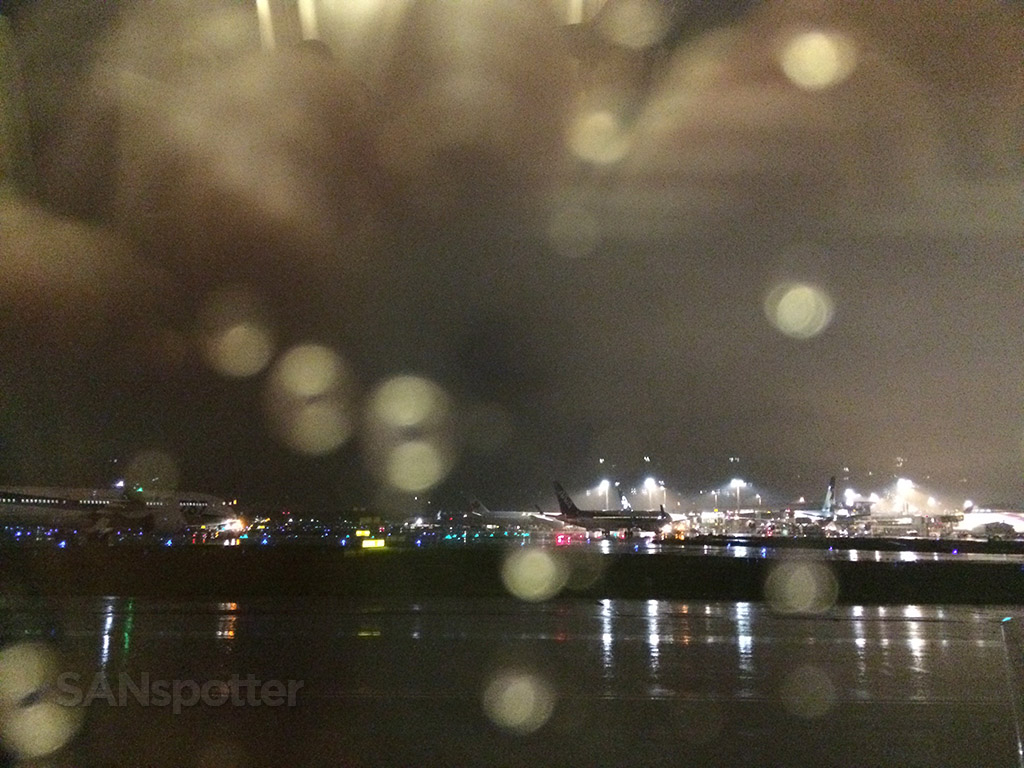 rainy night at NRT