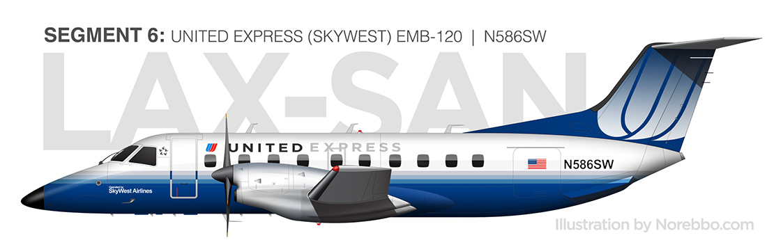 united embraer 120 Brasilia illustration