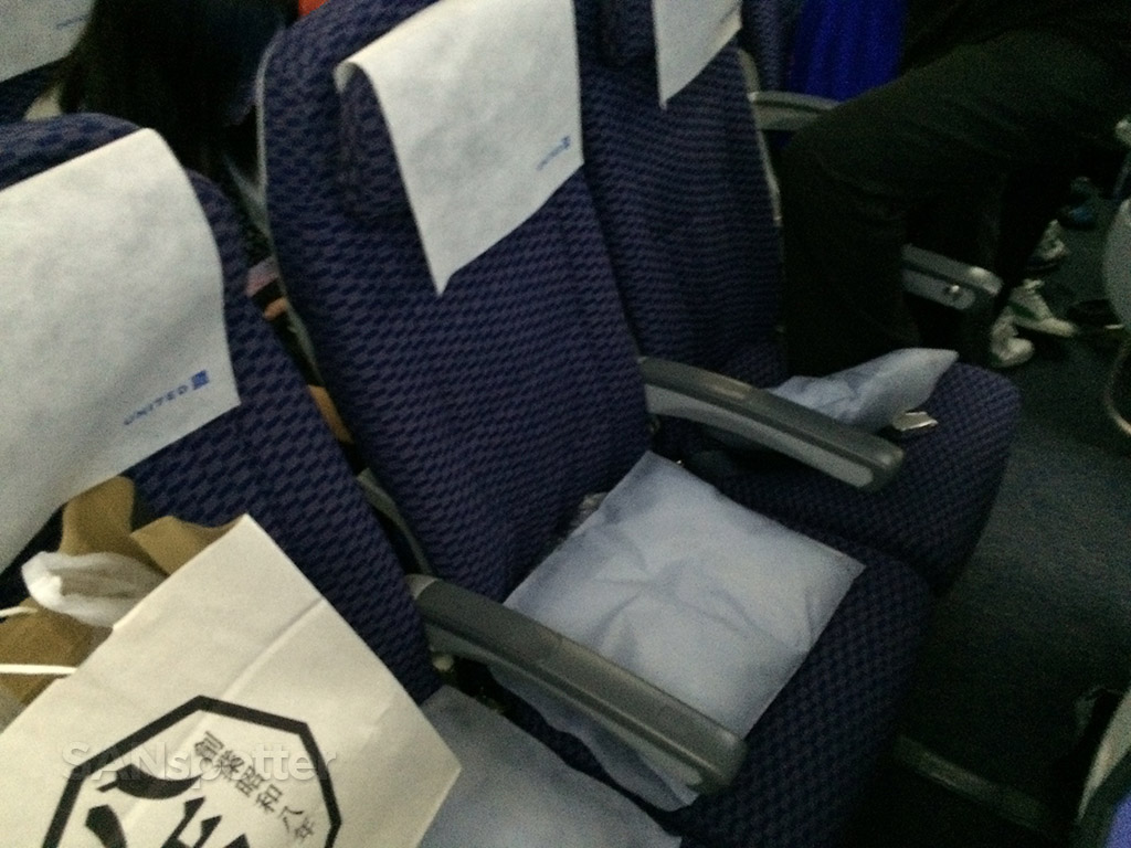 seat 33E on the United Airlines 787-8