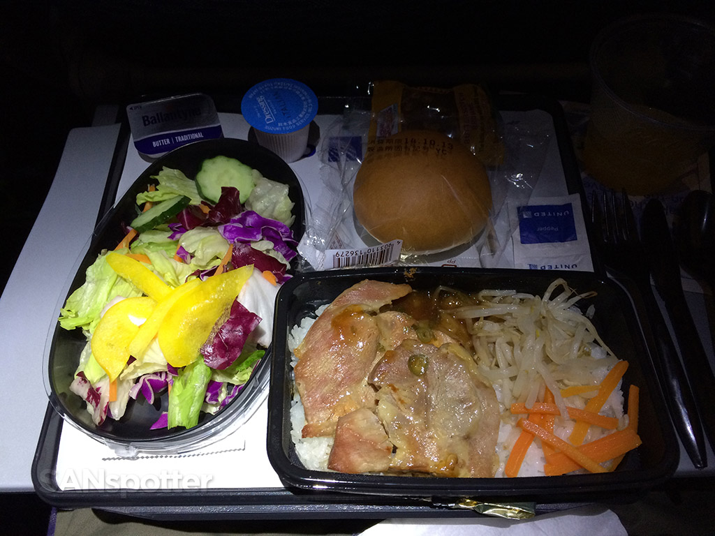 Chicken and rice economy class meal